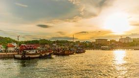 Embarcadero a Koh Si Chang Imagen de archivo libre de regalías