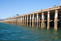 embarcadero largo en Augusta portuaria Imagen de archivo