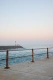 Embarcadero místico en la puesta del sol Fotos de archivo libres de regalías