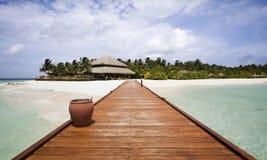 Embarcadero, Maldives Fotos de archivo libres de regalías