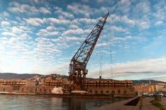 Embarcadero n°4 de Trieste fotos de archivo