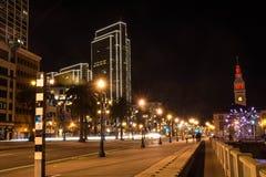The Embarcadero by night, San Francisco Royalty Free Stock Photo