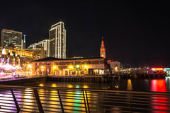 The Embarcadero by night, San Francisco Royalty Free Stock Images