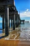 Embarcadero, océano y cielos Fotografía de archivo libre de regalías