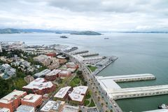 Embarcadero ? San Francisco Bord de mer oriental du port de San Francisco images libres de droits