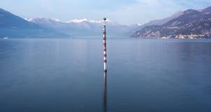 Embarcadero solo del lago Imagen del color Imagen de archivo