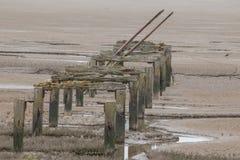 Embarcadero viejo, Snetisham Fotos de archivo