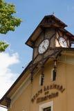 Embarcadero y parque de Krynica Gorska Fotografía de archivo