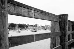 Embarcadero y puerto del muelle del ` s Monterey del pescador foto de archivo libre de regalías