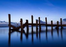 Embarcaderos crepusculares Imagenes de archivo