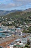 Embarcaderos de Lyttleton, Christchurch Nueva Zelandia Fotos de archivo libres de regalías