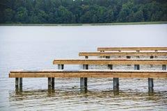 Embarcaderos en el lago Fotografía de archivo libre de regalías
