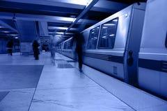 embarcaderostationsgångtunnel Arkivfoto