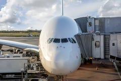 Embarcando um Airbus grande Fotos de Stock Royalty Free