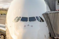 Embarcando um Airbus grande Foto de Stock Royalty Free