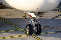 Embarcando um Airbus grande Fotografia de Stock