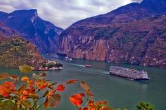 Embarcação de passageiro passada o Three Gorges Imagens de Stock Royalty Free