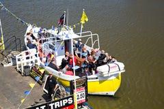 Embarcation de plaisance de Whitby avec des passagers Images libres de droits