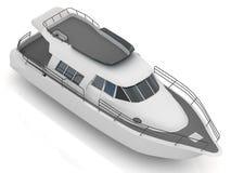 Embarcation de plaisance motorisée par prime Image libre de droits