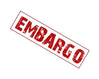 Embargo rubber stamp. Trade embargo rubber stamp Stock Photo