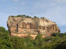 Sigiriya rock in Sri Lanka stock photography