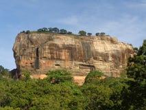 Sigiriya rock in Sri Lanka royalty free stock photos