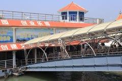 Embarkation туристов стоковое изображение