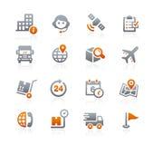 Embarquant et dépistant des icônes -- Série de graphite Photo libre de droits