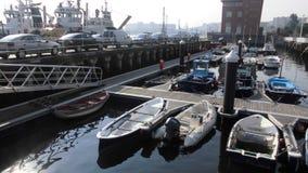 Embarque de vehículos en el puente de Vizcaya Imágenes de archivo libres de regalías