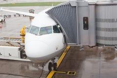 Embarque del aeroplano foto de archivo libre de regalías