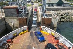 Embarque do carro em um ferryboat Foto de Stock Royalty Free