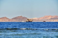 Embarquez l'épave du bateau en Mer Rouge Photographie stock libre de droits