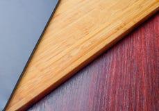 Embarquez le verre sur le message publicitaire en bois, cristal, décor, conception Photographie stock