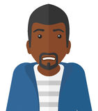 Embarrassed an african-american man. Vector flat design illustration  on white background Stock Images