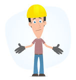 Embarrassed builder Royalty Free Stock Photo