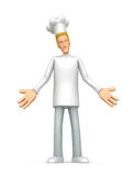 Embarrassed  chef Stock Photo