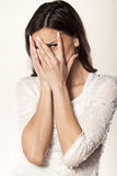 Embarrassed girl Royalty Free Stock Image