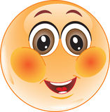 Embarrassed Smiley. Royalty Free Stock Image