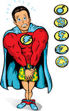 Embarrassed Super guy Stock Images