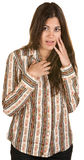 Embarrassed Young Woman Royalty Free Stock Photography
