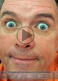 Embarrassing video clip selfie Royalty Free Stock Photo