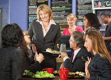 Embarrssed Cafe Owner Stock Images