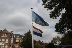 Embassy of Aruba in the city of The Hague where all diplomats are working in the Netherlands.  royalty free stock images