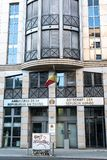 Embassy of the Republic of the Congo in Berlin, Germany. Berlin, Germany - April 19, 2019: Building exterior of the Embassy of the Republic of the Congo royalty free stock images