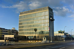 The Embassy of the United States of America in Havana stock photo