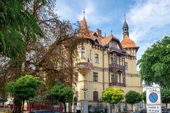 Embassy of the United States of America at Slovenian capital, Ljubljana. LJUBLJANA, SLOVENIA - SEPTEMBER 04 , 2018: Embassy of the United States of America at royalty free stock image