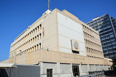 Embassy of the United States of America in Tel Aviv. TEL AVIV ISRAEL 03 11 16: Embassy of the United States of America in Tel Aviv is the diplomatic mission of Royalty Free Stock Image