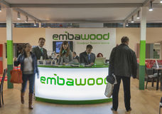 Embawood furniture company booth Royalty Free Stock Photos
