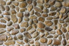 Embed stone in cement wall Royalty Free Stock Photos