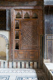 Embedded wooden ornate cupboard,El Sehemy house, Old cairo, Egypt Stock Photos
